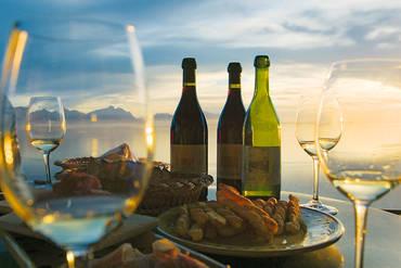 Die Weinberg-Terrassen des Lavaux sind das größte zusammenhängende Weinbaugebiet der Schweiz.