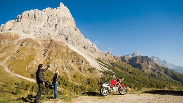 In der Nähe des Passo Rolle zwischen Val di Fiemme