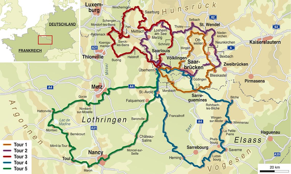 Karte Saarland